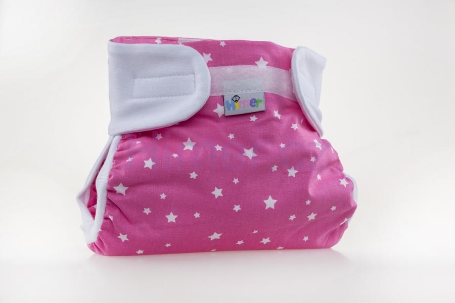 HIMERKY-kalhotky na široké balení VEL.2 - Růžové s hvězdičkami ff05a8c386